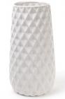 Ваза керамическая Stone Flower 31.5см, белая