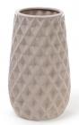 Ваза керамическая Stone Flower 23см, песочного цвета