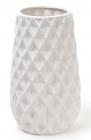 Ваза керамическая Stone Flower 23см, белая