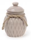 Банка керамическая Stone Flower для сыпучих продуктов Ø12.5х17.5см, песочный