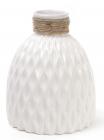 Ваза керамическая Stone Flower 18см, белая
