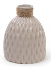 Ваза керамічна Stone Flower 18см, пісочного кольору