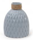 Ваза керамическая Stone Flower 18см, серо-голубого цвета