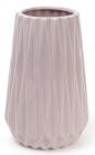 Ваза керамическая Stone Flower 21см, песочного цвета с розовым