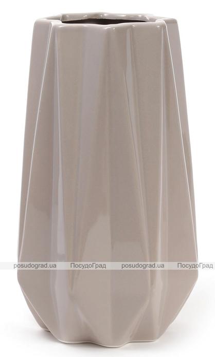 Ваза керамическая Stone Flower 25см, песочного цвета