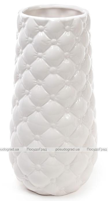 Ваза керамическая Stone Flower 24.5см, белая