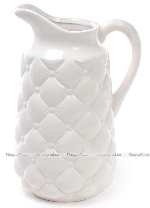 Кувшин керамический Stone Flower для напитков 1.8л, белый