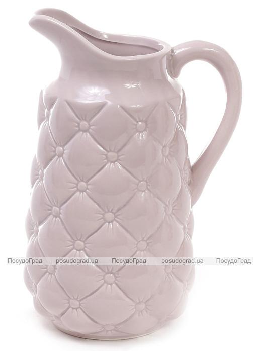 Кувшин керамический Stone Flower для напитков 1.8л, песочный-розовый