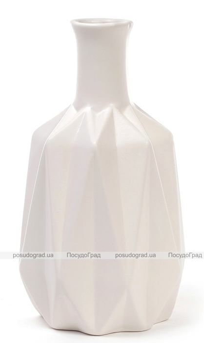Ваза керамическая Stone Flower 20см, белая