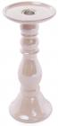 Підсвічник керамічний Goreidh 11х11х24.5см, рожевий перламутр