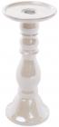 Підсвічник керамічний Goreidh 11х11х18.5см, білий перламутр