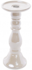 Подсвечник керамический Goreidh 11х11х18.5см, белый перламутр