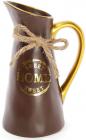 """Ваза керамическая """"Home sweet home"""" 25см, шоколадный кувшин"""