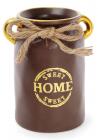 """Ваза керамическая """"Home sweet home"""" 19см, шоколадный горшок"""