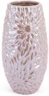 Ваза керамічна Айстра мереживна 23см, пісочний перламутр