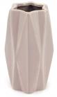 Ваза керамічна Stone Flower 18.5см, пісочного кольору з рожевим