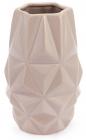 Ваза керамічна Stone Flower Абстракція 18.5см, пісочного кольору з рожевим
