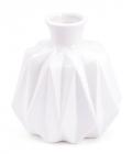 Ваза керамическая Stone Flower 13см с узким горлышком, белая