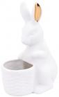 "Декоративная фигурка-кашпо ""Кролик с золотыми ушками"" 17х11.5х23см"