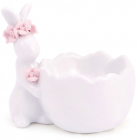 """Підставка для яйця """"Кролик з рожевим віночком"""" керамічна"""