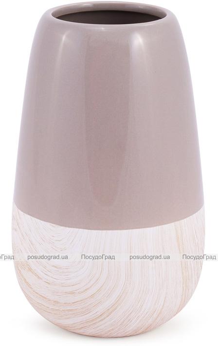 Керамическая ваза Stone Tree 22см, мокко
