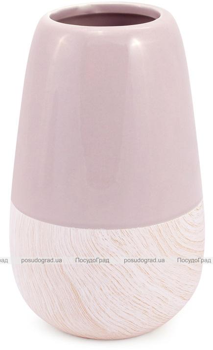 Керамическая ваза Stone Tree 22см, песочный розовый