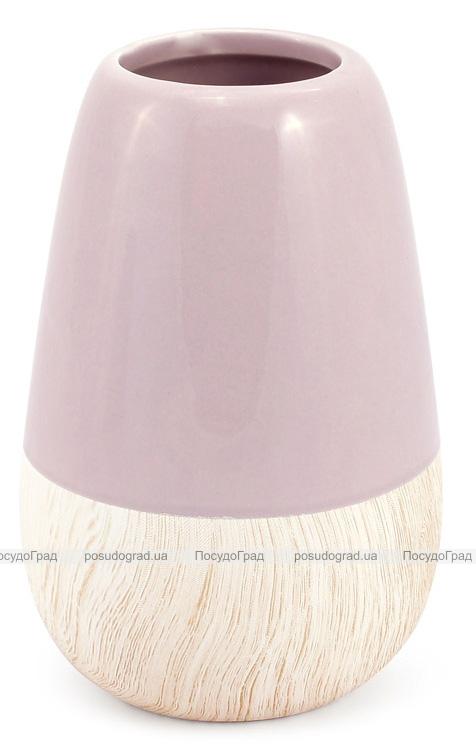 Керамическая ваза Stone Tree 18см, песочный розовый