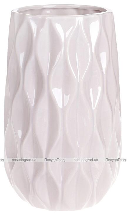 """Ваза керамічна Stone Flower """"Anaitis"""" 27.5см, пісочний рожевий"""