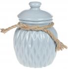 Банка керамічна Stone Flower для сипучих продуктів Ø12.5х17.5см, блакитна