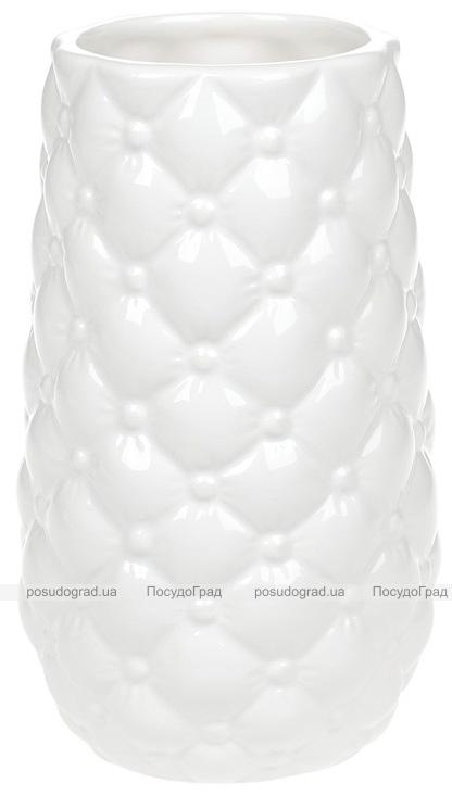 Ваза керамическая Stone Flower 17см, белая