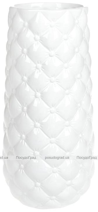 Ваза керамическая Stone Flower 30.5см, белая