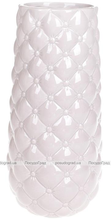 Ваза керамическая Stone Flower 30.5см, песочный розовый