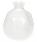 "Ваза керамічна Miraine ""Гранат"" 12.5см, біла"