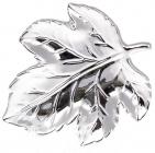 """Набір 4 керамічних декоративних блюда Goreidh """"Кленове листя"""" 15х13х2см, срібло"""