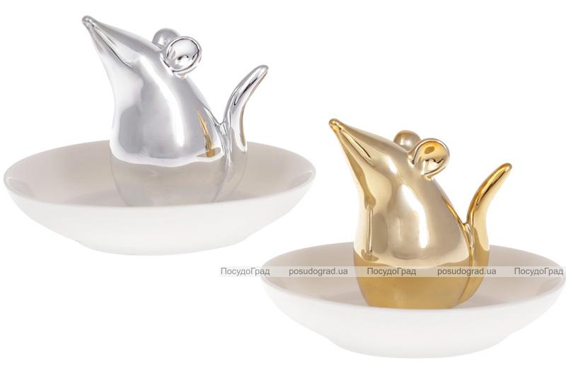 """Блюдце-подставка для украшений """"Мышка"""" 11х11х7.5см"""