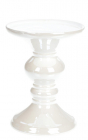 Подсвечник керамический Goreidh 11х11х15.5см, белый перламутр