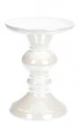 Підсвічник керамічний Goreidh 11х11х15.5см, білий перламутр
