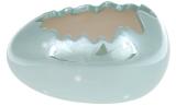 """Набор 2 декоративных кашпо """"Яйцо"""" 13х8.5х7.2см, бирюзовый перламутр"""