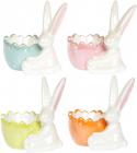 """Набор 4 подставки для яйца """"Умный кролик"""" 10х7х10см"""