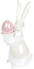 """Статуетка """"Зайчик з яйцем в кошику"""" 11.5х8х21см, кераміка"""