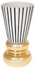 Ваза керамічна Kamarin 25.3см чорні смуги з золотом