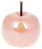 """Набір 4 декоративні статуетки """"Яблуко"""" 9х9х9.7см, персиковий перламутр"""