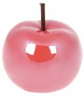 """Набір 4 декоративні статуетки """"Яблуко"""" 9х9х9.7см, полуничний перламутр"""