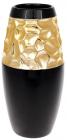 Ваза керамічна Vjosa 26см, чорний з золотом