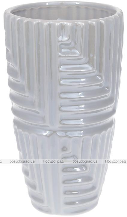 """Ваза керамічна """"Lorenc"""" 22.5см, перлинний сірий"""