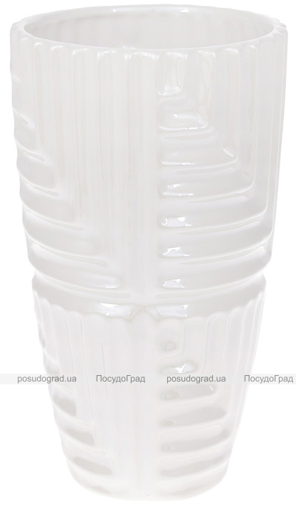 """Ваза керамическая """"Lorenc"""" 22.5см, жемчужный белый"""