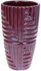 """Ваза керамічна """"Lorenc"""" 22.5см, перлинний бордовий"""