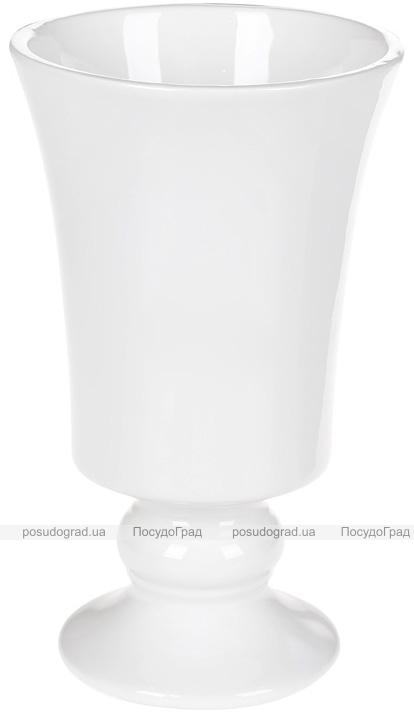 """Ваза керамічна """"Кубок"""" 20.2см, біла"""