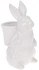 """Статуетка керамічна """"Розумний Кролик"""" 18х13х26.3см з міні-кашпо, білий"""