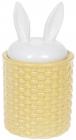 """Банку для продуктів """"Заячі вушка"""" 550мл кераміка, жовтий з білим"""
